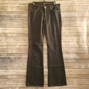 29 7 For All Mankind Blue Dark Wash Flare Jeans